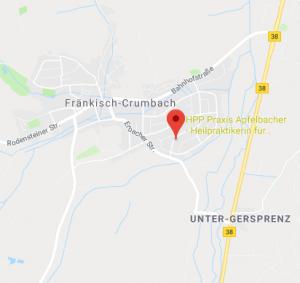 Standort der Heilpraktiker Psychotherapie Praxis Apfelbacher
